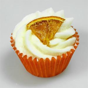 9437MAN-O Badebutter Cupcake 45g mit Bestreuung Mandarine Duft Orange