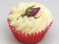 9437R-R Badebutter Cupcake 45g mit Bestreuung Rosenknospe Duft Rose