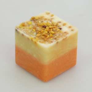 9438HO-O Badebutter Würfel 50g mit Bestreuung Honig Duft Orange