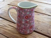 Aspegren Kanne groß Blume rosa