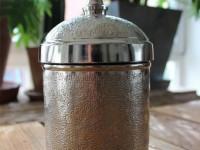 Nostalgische Dose mit Deckel Aluminium Silber der Firma Florissima