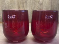 DUTZ Collection Glasvase Barrel Red 13 x 10 cm