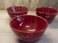 DUTZ Collection Glasschale Bowl small Red 17 x 9 cm