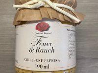 Gourmet Berner Feuer und Rauch Grillsenf Paprika 190 ml Glasflasche