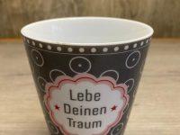Krasilnikoff Danish Design, Happy Mugs Lebe Deinen Traum