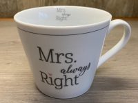 Krasilnikoff Danish Design, Happy Cup Mrs. Always Right
