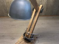 Schreibtischlampe Industriestyle mit Echtholz