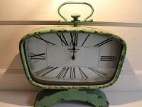 Nostalgische Standuhr in Mint, Höhe 35 cm, Breite 35 cm