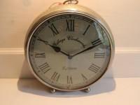 """Altenglische Uhr """"Village Clockworks"""", silberfarben, Druchmesser 22 cm"""