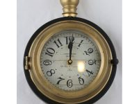 Uhr mit Pendel schwarz gold