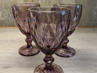 Weinglas, foliertes Glas, altrose, 17 x 8,5 cm