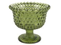 Schale / kleiner Pokal aus durchgefärbten Glas
